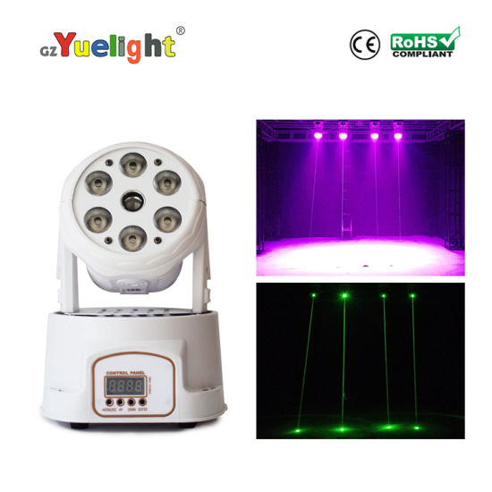 6 PCS Wash+1 Spot LED Moving Head Disco Stage Light with Ce RoHS