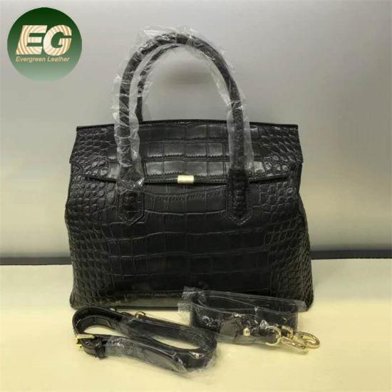 Large Capacity Classical Women Handbag Crocodile Genuine Leather Bag Emg5488