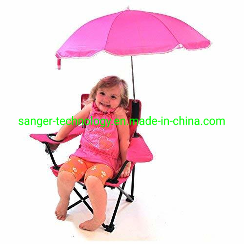 Enjoyable Fashionable Hot Sales Red Color Kids Chair With Umbrella For Girls Folding Beach Chair For Children Customarchery Wood Chair Design Ideas Customarcherynet