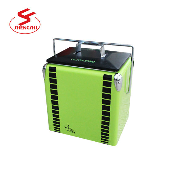 China Mini Metal and Plastic Beer Cooler Box for Picnic - China