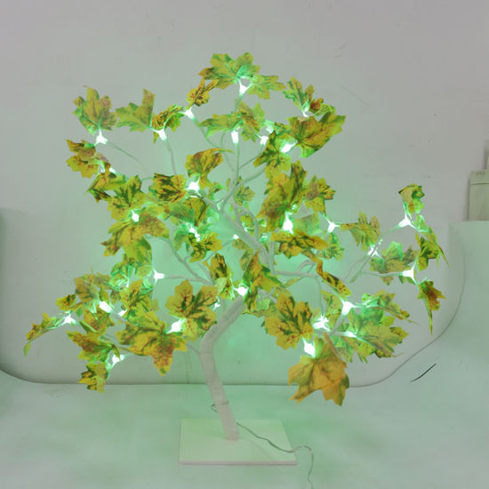RGB Warm White LED Artificial Lighted Yellow Maple Tree for Home Decoration pictures & photos
