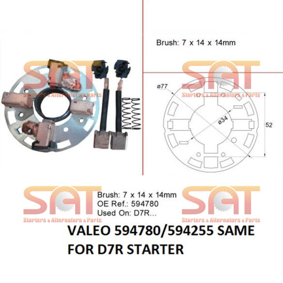 Repair Kit for D7r Starter 594780 594255 136763 333646 6994202n
