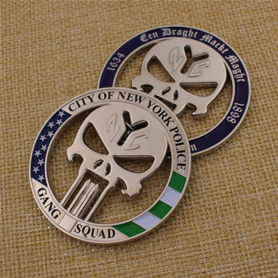 Custom Wholesale Metal New York Police Coin for Souvenir