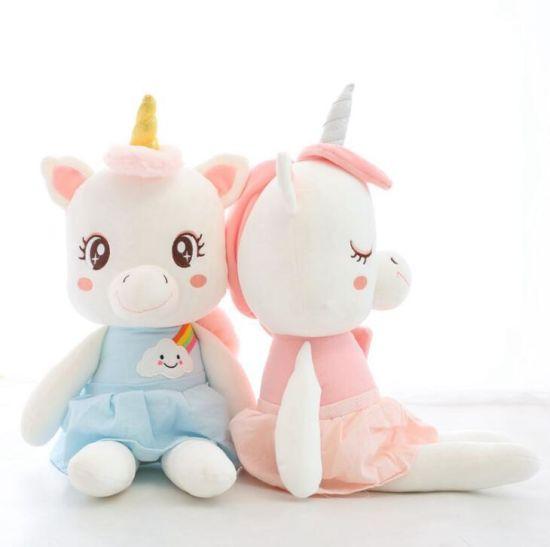 Factory Funny Custom Fancy Pink Small Stuffed Animal Plush Unicorn Toy