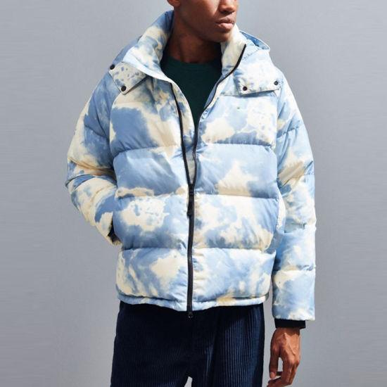 Custom Windbreaker Men's Winter Coat Short Ripstop Down Jacket