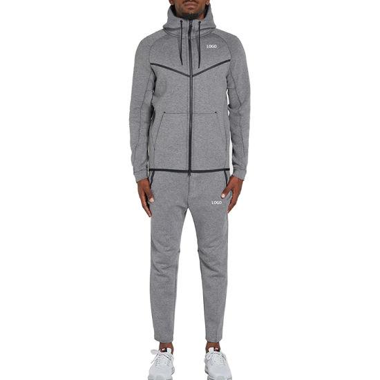 Two Pieces Sportswear Jogger Tracksuit Mens Wholesale Sweatsuit