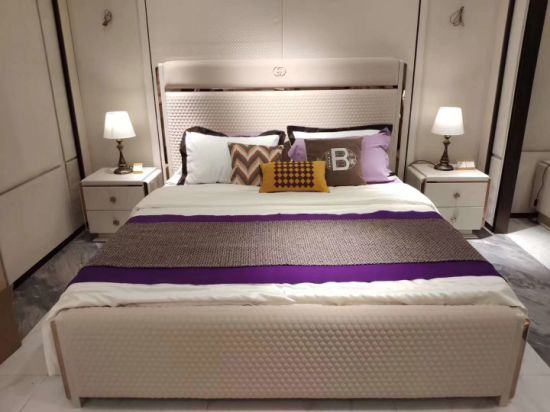 Modern Luxury Gold Stainless Steel Software Bedroom Sets Furniture for Home