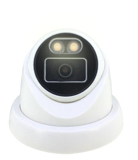 2MP HD Warm Light CCTV Camera 1080P Full Color Turret IP Camera Ahd/Tvi/Cvi Security Camera Analog Camera for CCTV Security System