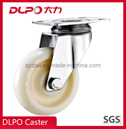 China Factory Plate Stainless Steel Wheel Barrow Caster for Supermarket Trolley Cart
