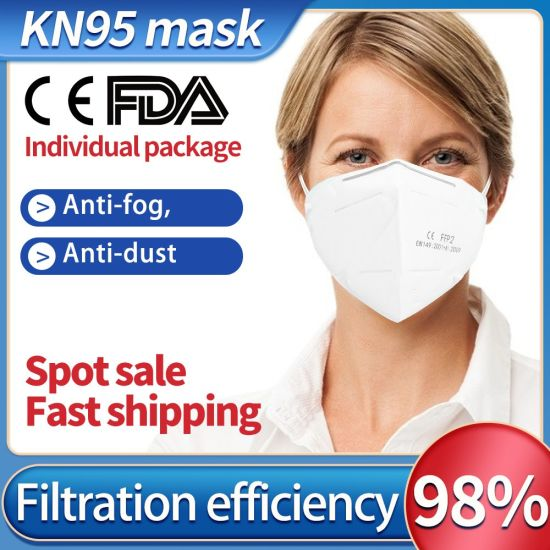 100PCS Fast Shipping Anti-Pollution Filter Safety Dust Mask Disposable Protect 3-Ply Earloop Non Woven Mouth Protective