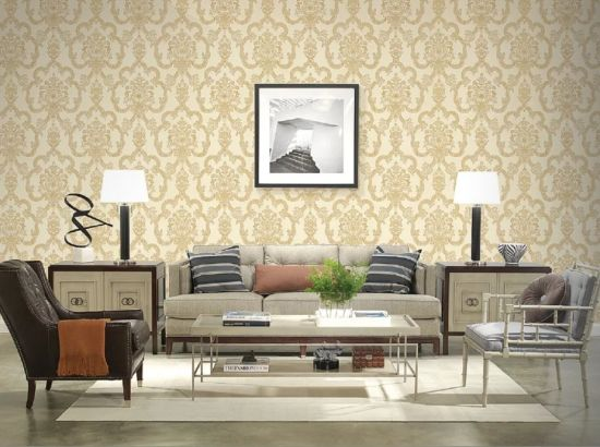 Floral Non Woven Luxury Waterproof Formaldehyde-Free Wall Cloth Fabric Wallpaper for Home Decoration