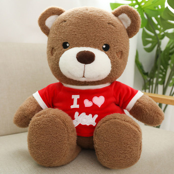 Promotional Customized Gift Cartoon Soft T-Shirt Teddy Bear Plush Toy pictures & photos