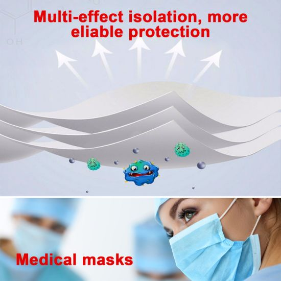 Disposable 3ply Face Mask with Earloop Disposable Face Mask pictures & photos