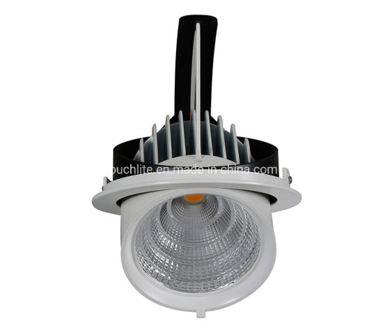 20W 30W 45W LED Flip Spot Light Adjustable Ceiling Recessed LED Downlight for Supermarkets, Hotels, Meeting Rooms