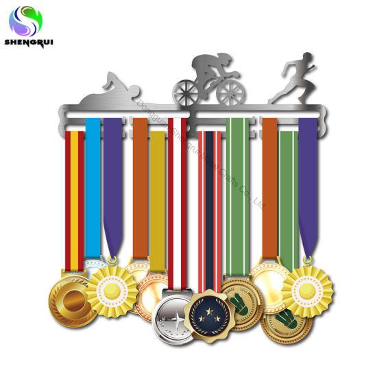 Home Decor Triathlon Medal Hanger Stainless Steel Medal Display Holder