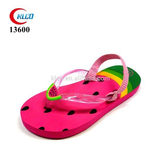 OEM Watermelon Style Slides Shoes Rubber Flip Flop Beach Sandals Girl's Flip Flops Wholesale