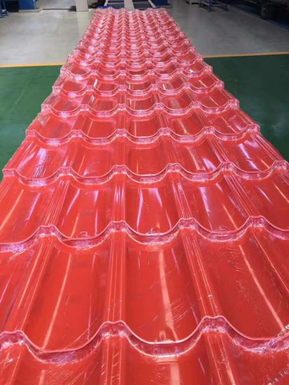 Clay Color Coated Metal Roof Tile for Residential House