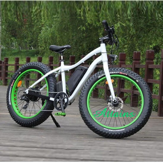 China 250W Snow Mountain Motorized Bicycle 26*4 Tyre High Speed