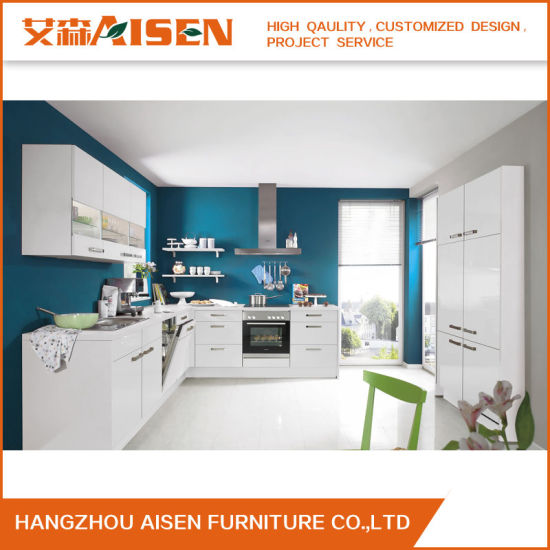 2018 Flat Pack High Gloss Lacquer Kitchen Cabinet Doors