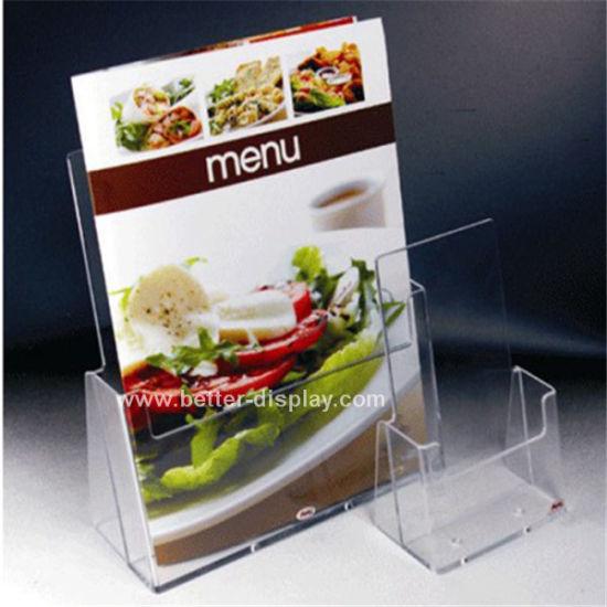 Acrylic Restaurant Table Menu Holder (BTR-H6029)