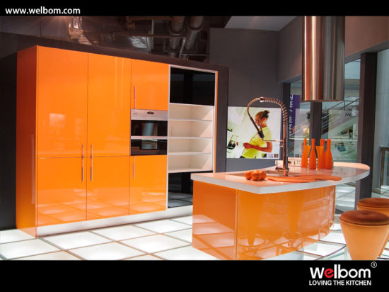 Welbom High Gloss Modern Kitchen Furniture Modular Lacquer Kitchen Cabinet pictures & photos