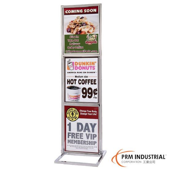 China Heavy Duty 22x 28 Triple Frame Poster Stands China Signs