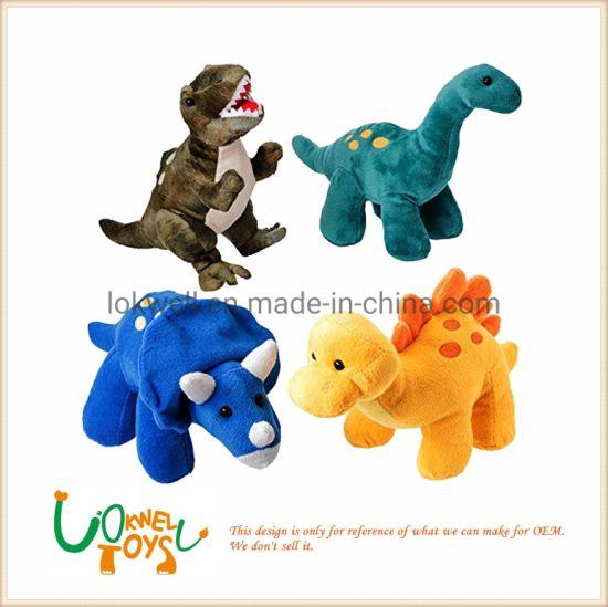 Cute Dinosaur Toy Cartoon Tyrannosaurus Plush Animal Cushion Safe For Boys Girls