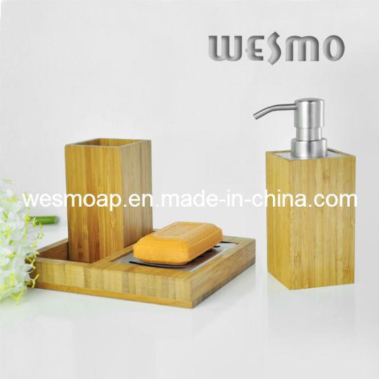Carbonized Bamboo Bathroom Set (WBB0301A)