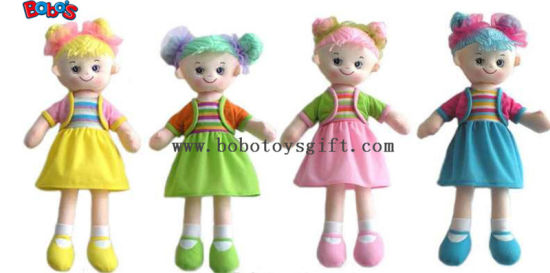 Lovely Fashion Plush Stuffed Girl Doll Toy with Dress pictures & photos