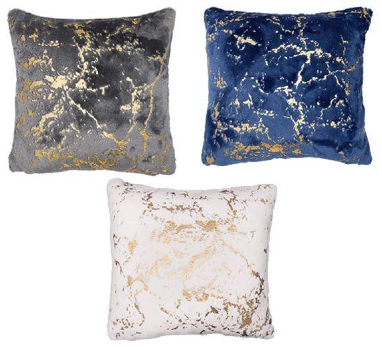 Printed Polyester Flannel Sofa Cushions / Foil Fake Fur Pillows Home Decorative Cushions