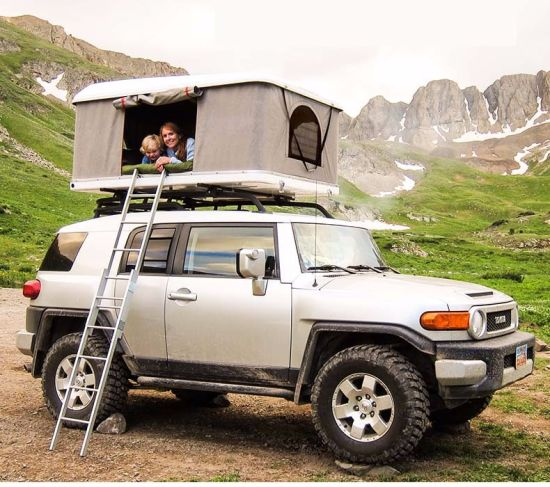 2-3 Person Adventure Hard Shell Roof Top Tent 4X4 C&ing Car Roof Top Tent & China 2-3 Person Adventure Hard Shell Roof Top Tent 4X4 Camping ...