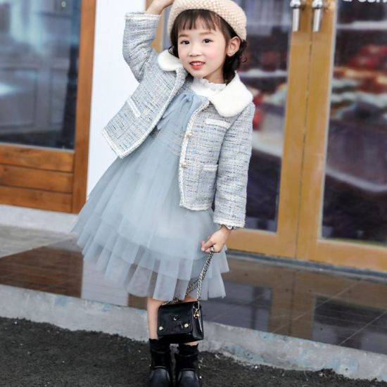 China Children Wear A Girl S Dress Children Wear Children S Clothes Winter Girls New Style Small Fragrance Wind Fashion Coat Girls High Quality Two Piece Set China Girl Suit And Clothing Price