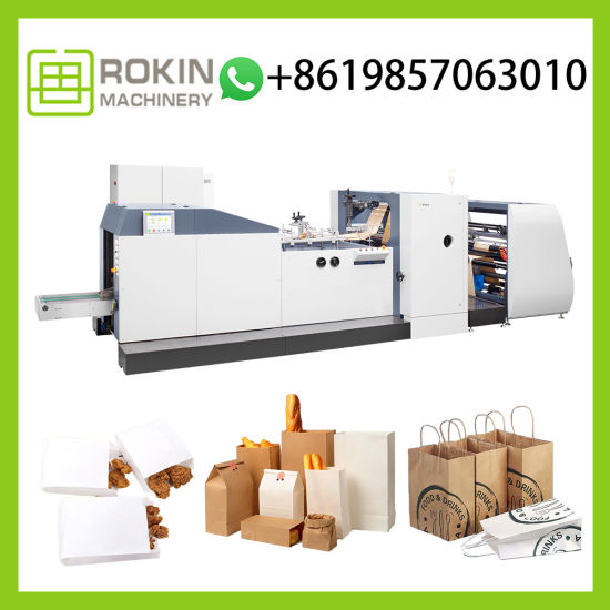 Wholesale Recyclable Custom Logo Printed Food Carry Bag Paper Making Machine