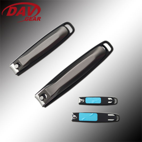 """2.5""""Black Zinc and Alum Coated Nail Clippers for OEM"""