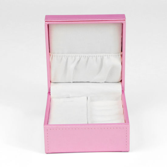 Firstsail Factory Handmade Custom Luxury Pink PU Leather Velvet Engagement Ring Box Jewelry Necklace Watch Foldable Packaging
