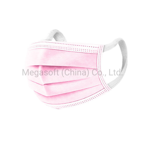 Disposable Daily Use Protective Dust-Free Breathable Pink Lady Facial Mask