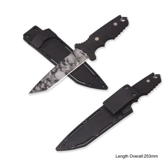 Hot Sale Camo Hunting Knife (#3883)
