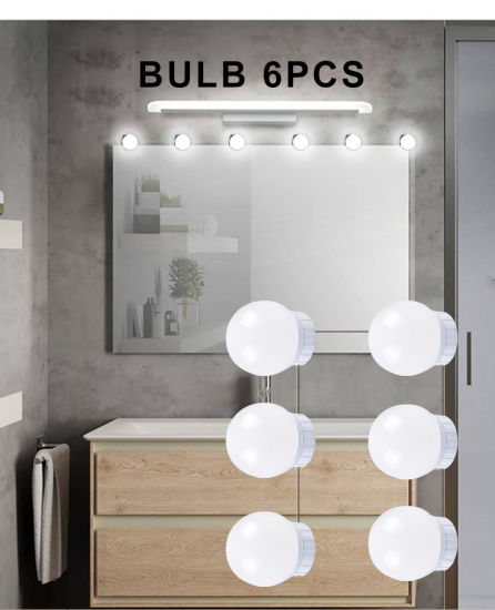 6pcs Bulb Led Makeup Mirror Lights Usb, Makeup Mirror Light Not Working