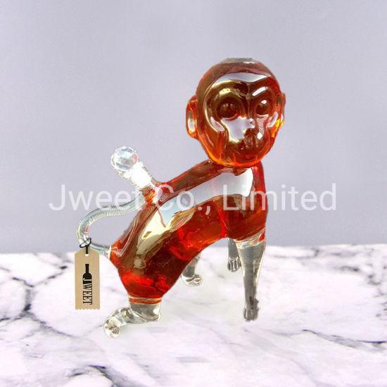 Factory Wholesale Animal Design Monkey King Shape Liquor Glass Bottle