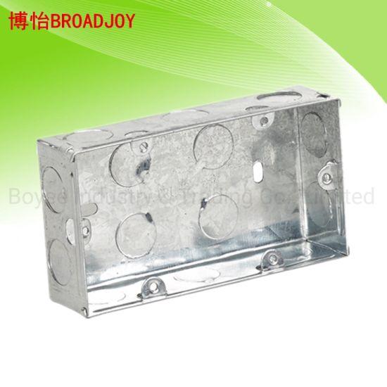 2 Gang 35mm Galvanised Steel Box