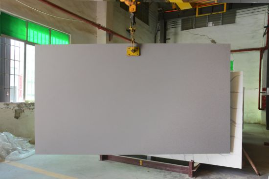 Large Size Chinese Granite Slab Kitchen Countertop 3200*1800mm Grey Marble Engineered Quartz Stone Wholesale Spray Wave Granite Vanity Top Sand Blasted Surface