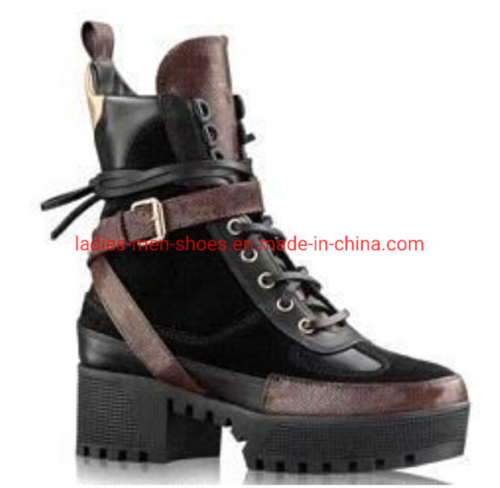 100% Leather Coarse Woman Shoes Desert Boots