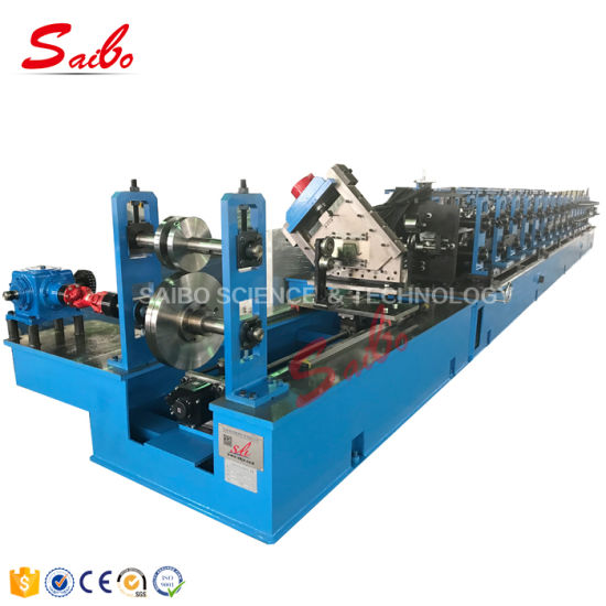 High Speed Omega Purlin Solar Roll Forming Machine of Galvanized Steel for Peb Size Adjustable