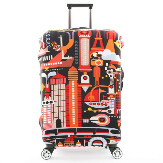 Washable Suitcase Cover Spandex Travel Luggage Cover for 20'' - 28'' Travel Accessories