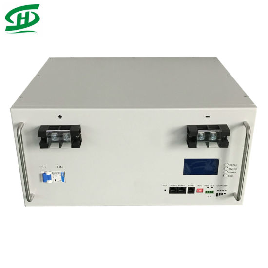 48V 100ah 200ah 4.8kw 9.6kw LiFePO4 Lithium Ion Battery for Home PV Solar Energy Storage System Telecom Tower with Anti Theft and GPS