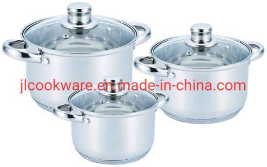Stainless Steel 6PCS Cookware Set Pot and Pan Set