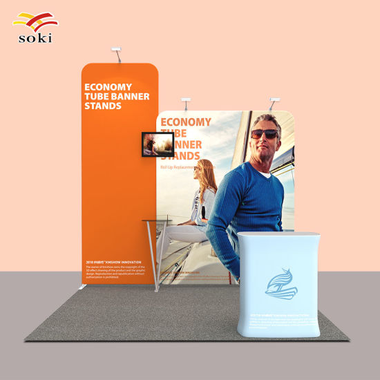 10ft Custom Fabric Trade Show Display Back Wall Pop up stand booth