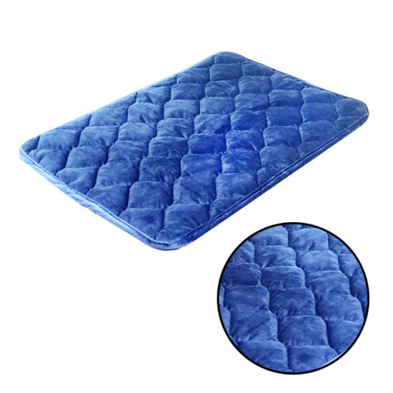 Cotton Filling Rectangle Dog Bed Pad Pet Sleeping Mattress