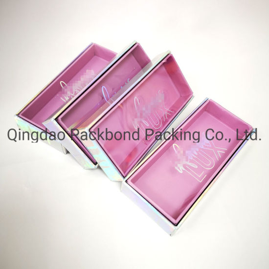 89aa9a54cdf Square New Magnetic Closure Lashes Boxes Custom Mink Eyelash Box Packaging