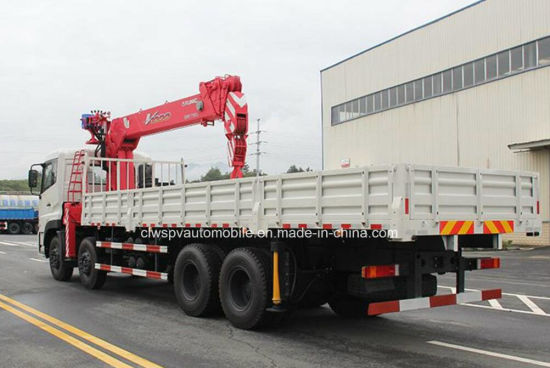 270HP 8X4 Heavy Duty Lorry Truck Mounted with Boom Crane pictures & photos